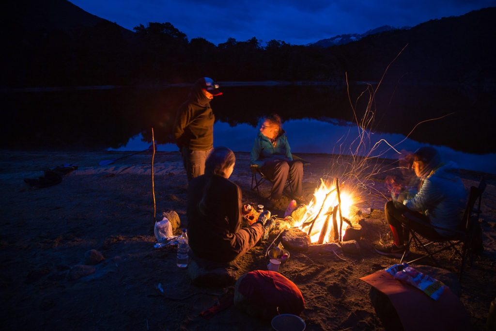 women in the wilderness, Fiordland, Southland, Invercargill, Adventure Southland Ltd, Campfire, Bushcraft, Survival Sills, Camping, Tramping, Hiking