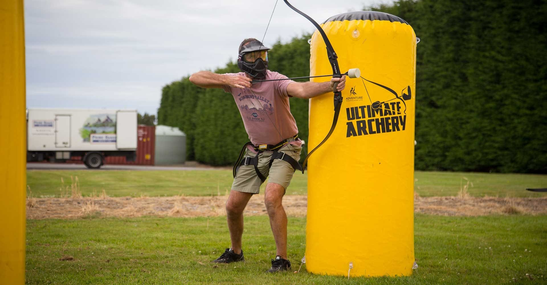 ultimate archery, archery tag, stag do, fun, things to do in southland, things to do in invercargill, adventure activities, archery, adventure southland, hens party, cool things to do