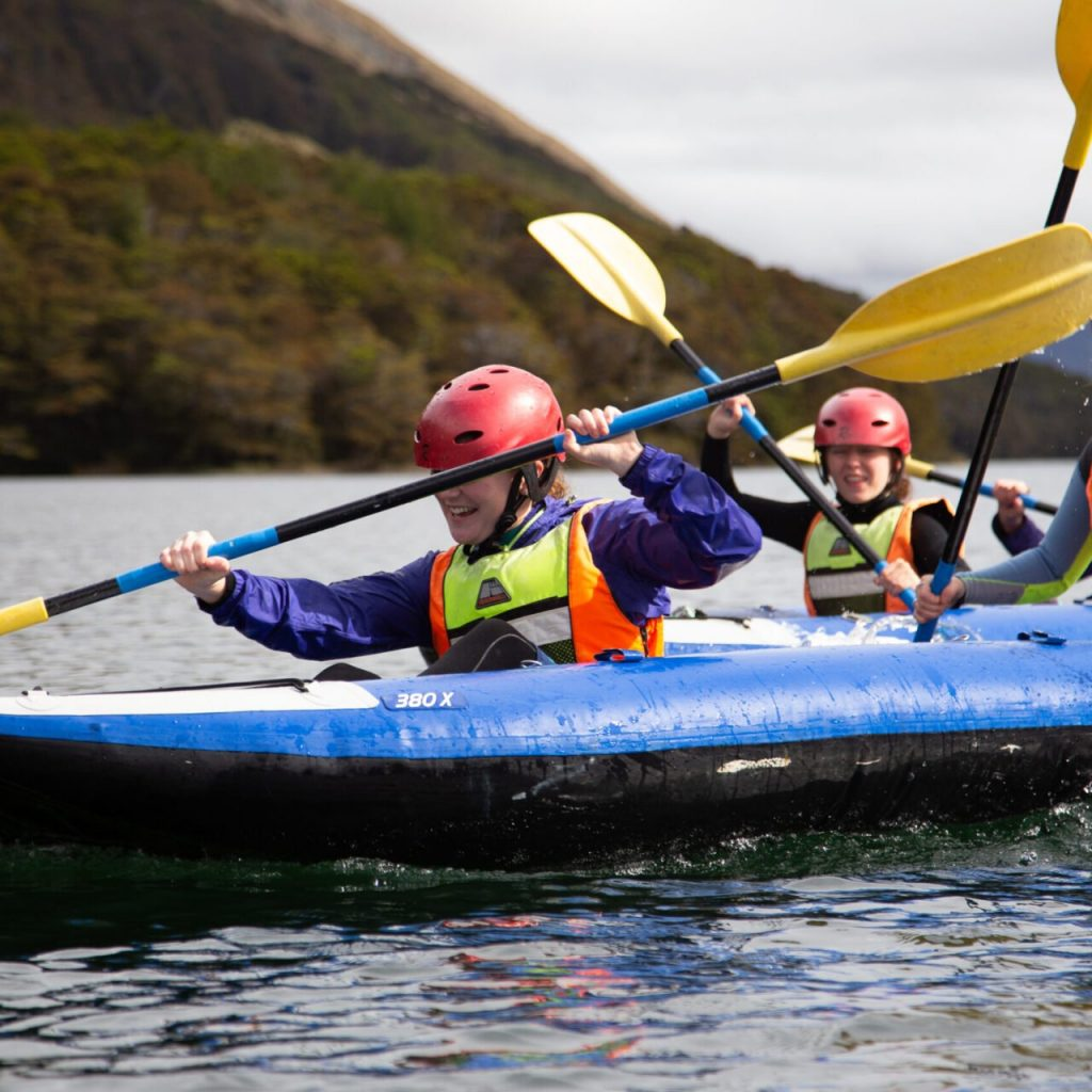 strive, adventure southland, young women, young women in the outdoors, things to do for young women, things to do for girls. girls in the outdoors, kayaking, climbing, abseiling, fun things to do, build confidence, build skills, skill building, building relationships, adventure activities