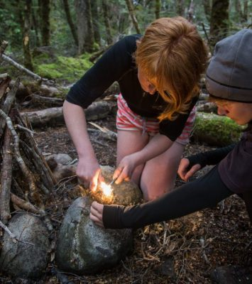 bush craft, fire lighting, survival skills, adventure southland ltd, fiordland, southland, outdoor education